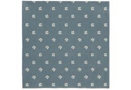 Serviette blau vierblättrige Kleeblätter