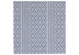 Serviette staubig blau Serafinamuster