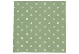 Serviette vierblättrige Kleeblätter grün