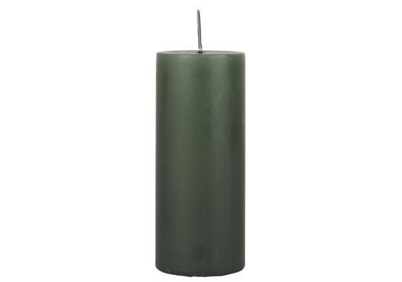Stumpenkerze tiefgrün Ø:6 H:15