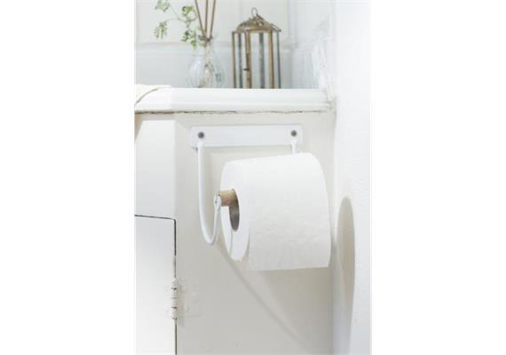 Toilettenpapierhalter mit Holzrolle