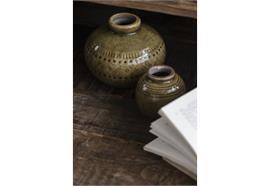 Vase krakelierte Oberfläche